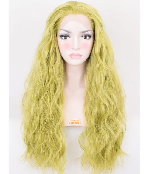 Green Lace Front Wig Lime Green
