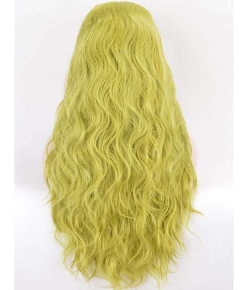 Green Wig Lace Front Long