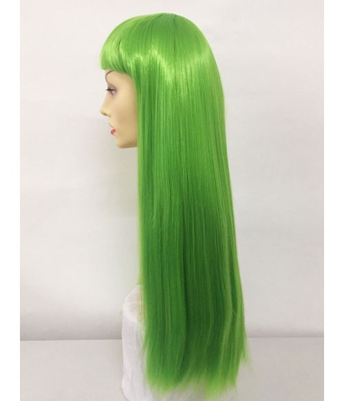 Green Wig With Fringe
