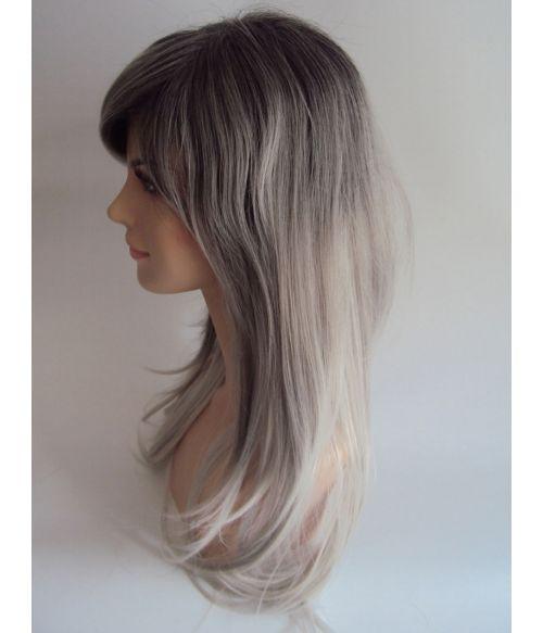 Grey Wig Ombre Long