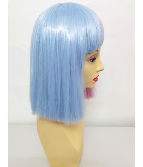 Half And Half Wig Pink And Blue