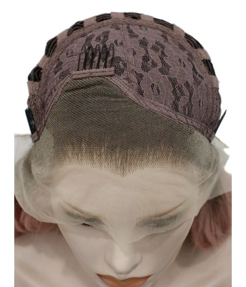 Lace Front Widows Peak Wig Pink