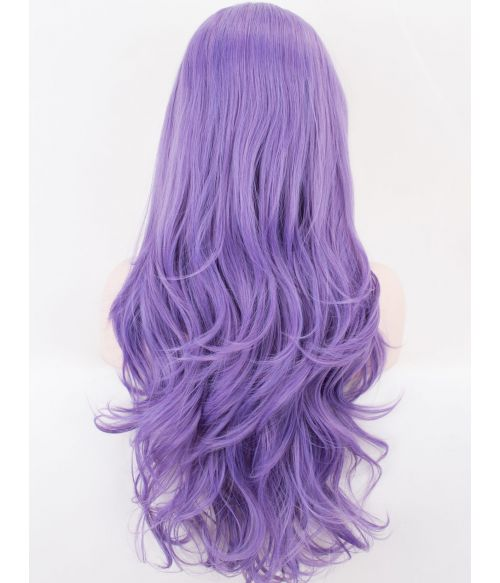 Light Purple Lace Front Wig Wavy