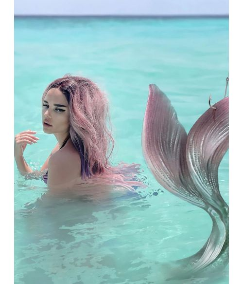 Mermaid Wig Lace Front Pink Ombre