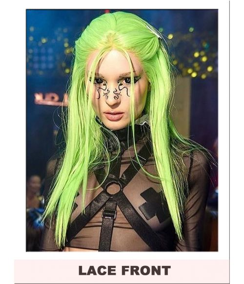 Neon Green Bright Lace Front Wig