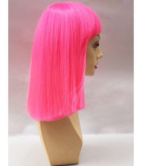 Neon Pink Wig Short