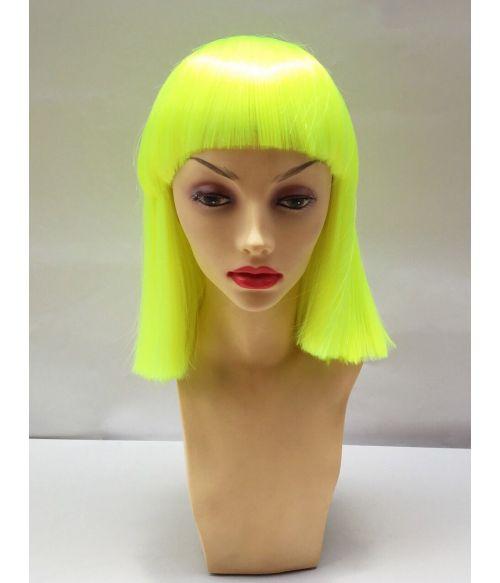 Neon Yellow Bob Wig