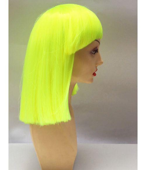 Neon Yellow Wig Bob