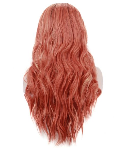 Orange Lace Front Wig Ombre