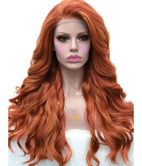 Orange Red Wig Lace Front