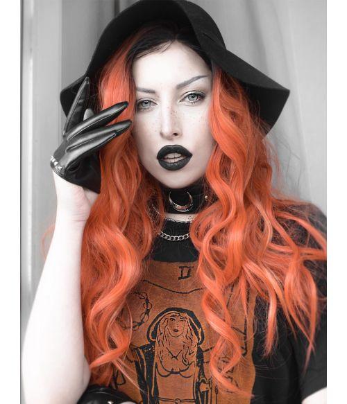 Orange Wig Wavy Lace Front