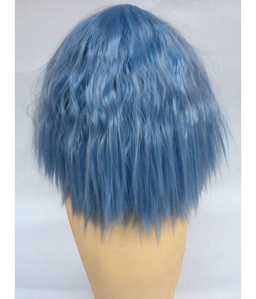 Pastel Blue Wig Wavy Short