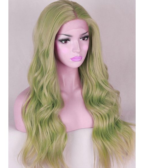 Pastel Green Lace Front Wig