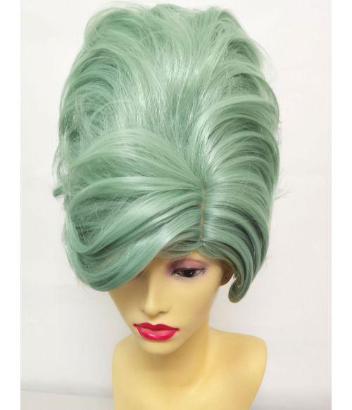 Pastel Green Wig Beehive Hair