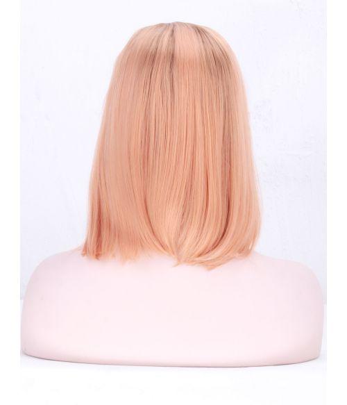 Peach Bob Wig Lace Front