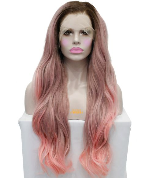 Pink Ombre Lace Front Wig