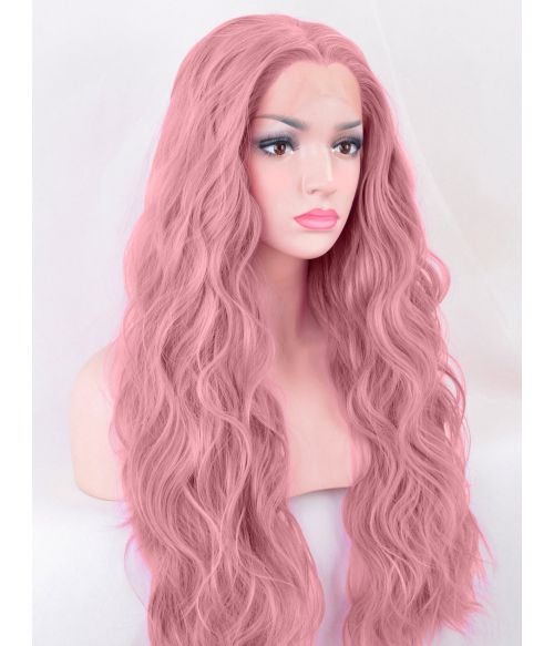 Pink Purple Lace Front Wig