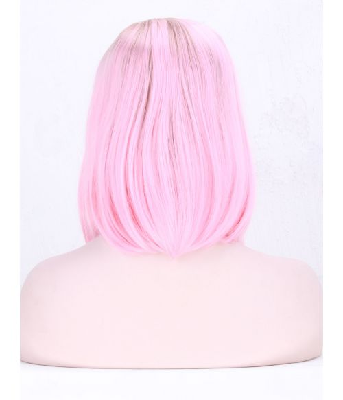 Pink Wig Lace Front Bob