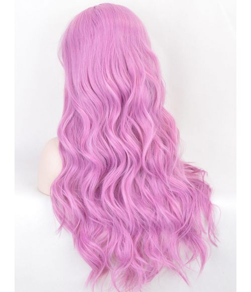 Pink Wig Lace Front Long