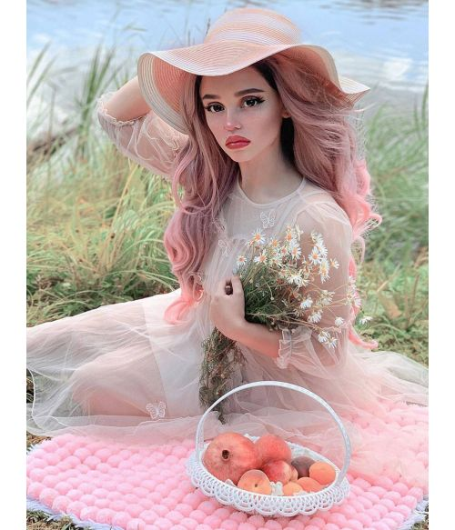 Pink Wig Ombre Lace Front