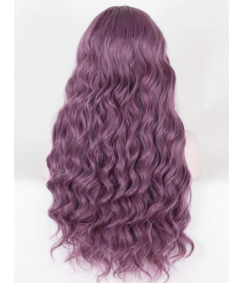 Purple Lace Front Wig Curly