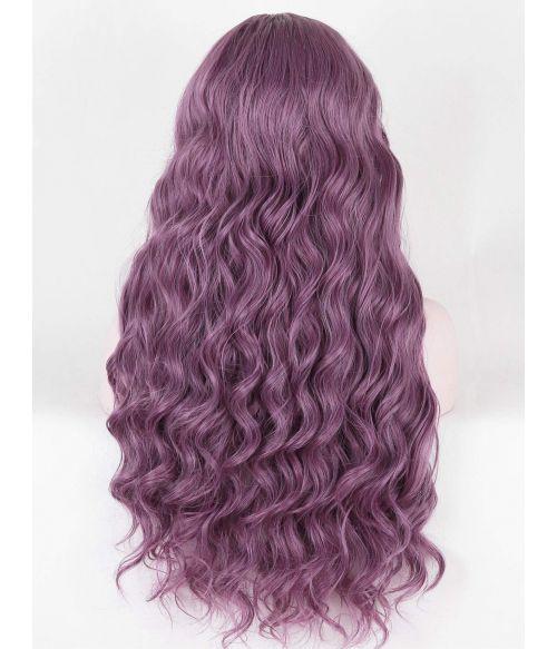 Dusty Purple Wig Lace Front Wavy