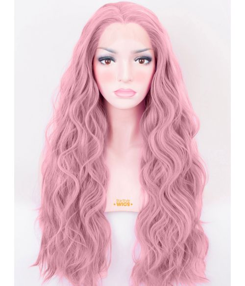 Purple Pink Lace Front Wig