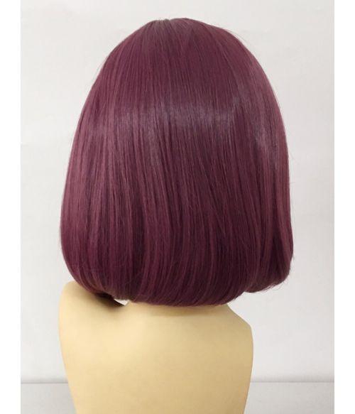 Purple Wig Blunt Bob