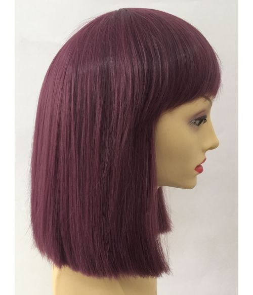 Purple Wig Short Straight