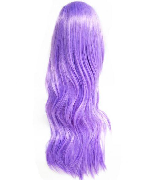 Purple Wig Wavy Long