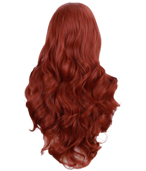 Red Lace Front Wig Auburn