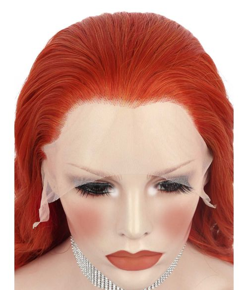Red Lace Front Wig Widows Peak