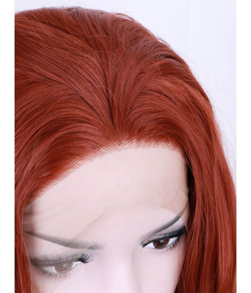 Red Wig Lace Front Auburn