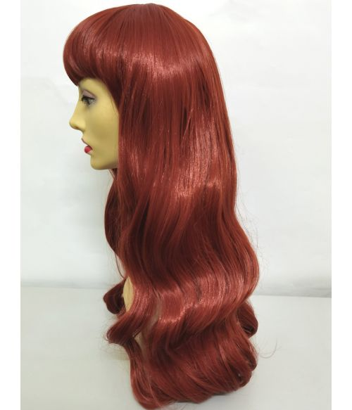 Red Wig With Short Bangs