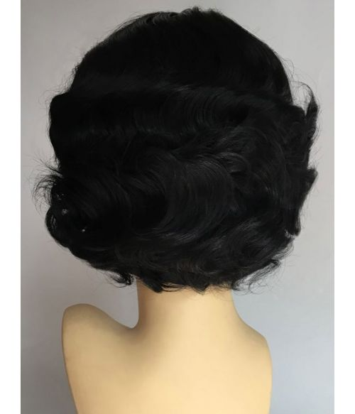 Short Black Curly Wig