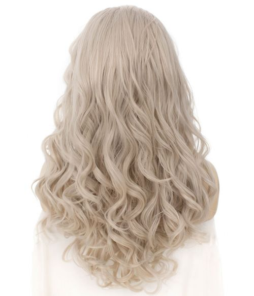 Silver Grey Wig Lace Front Curly