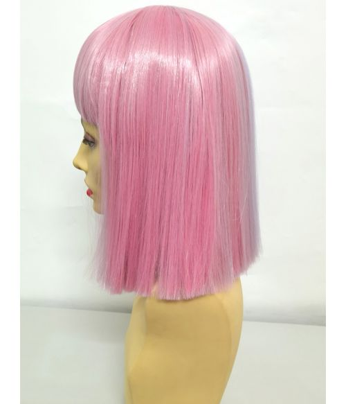 Split Colour Wig Pink And Blue