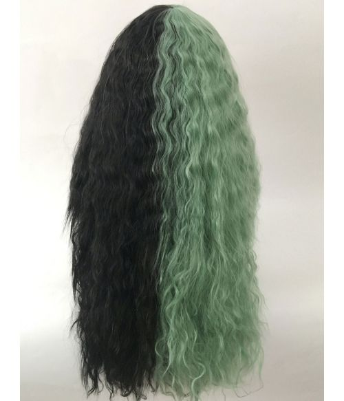 Split Wig Black And Green