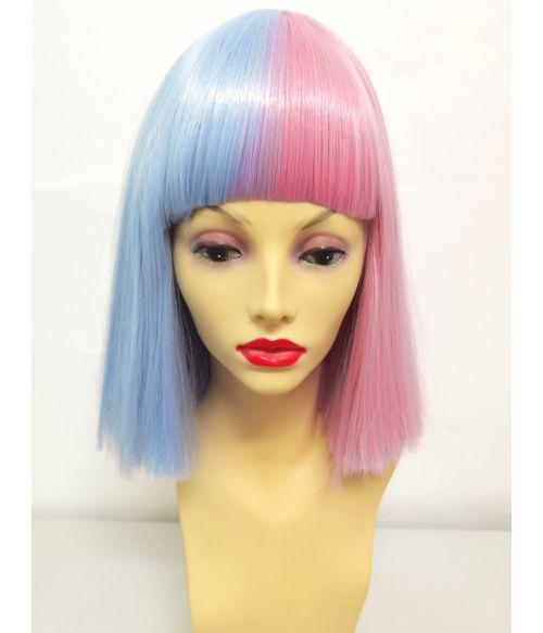 Split Wig Pink Blue