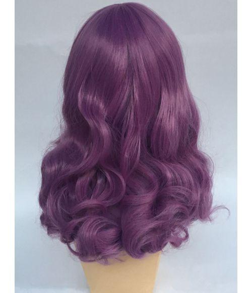 Vintage 1950s Wig Curly Purple