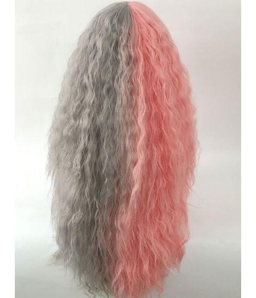 Split Dye Hair Wig Pink
